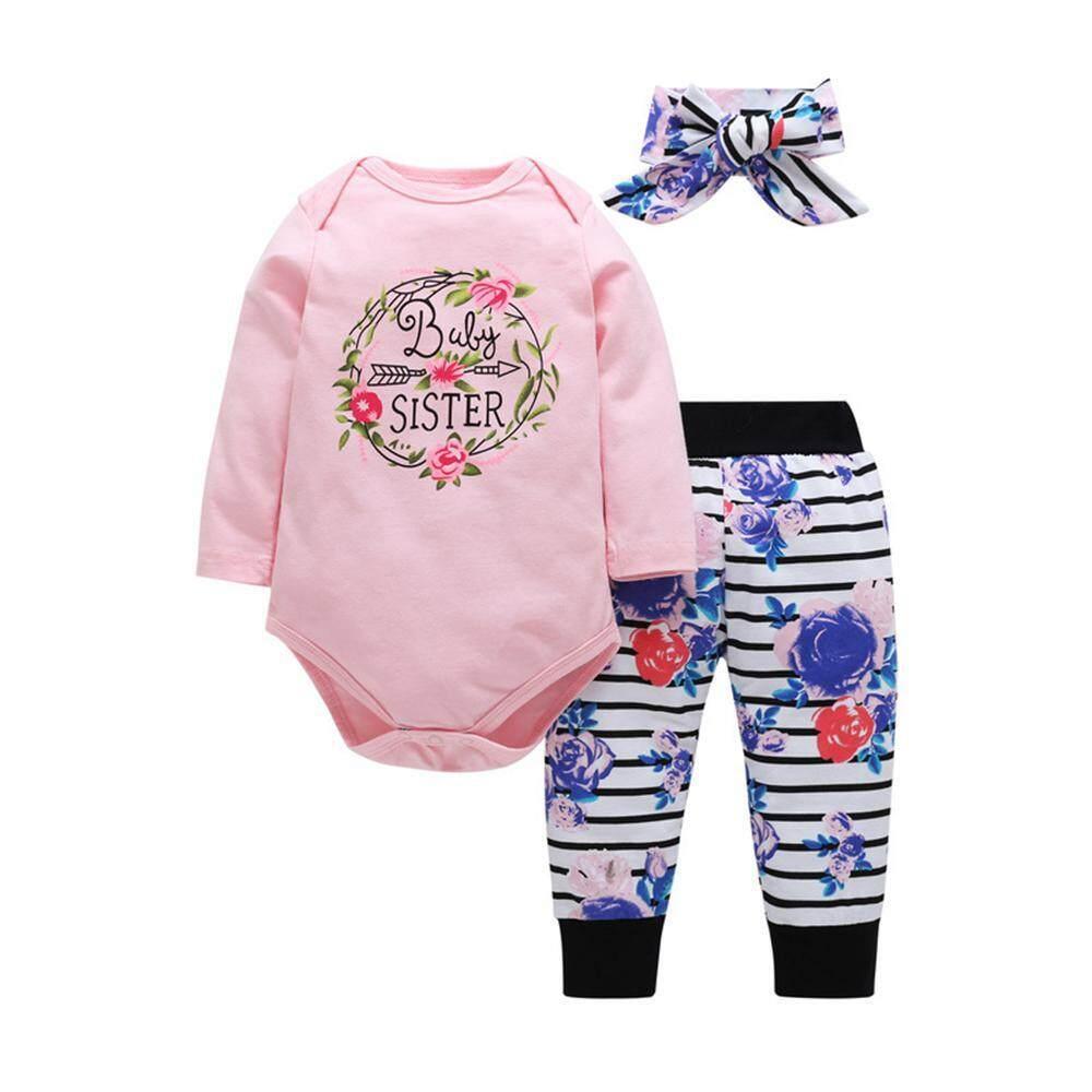 Niceeshop 2018 Musim Gugur Bayi Gadis Baju Bayi Baru Lahir Pakaian Anak Perempuan Set Lucu Motif