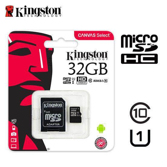 Kingston Canvas Select 32GB MicroSDHC UHS-I U1 Class 10 Read 80MB/s Wriet 10MB/s (SDCS-32GB)