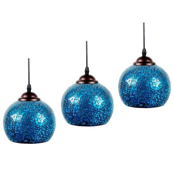 Perfk 3 x Home Decor Hanging Light Shade Mosaic Design Pendant Ceiling Lampshade