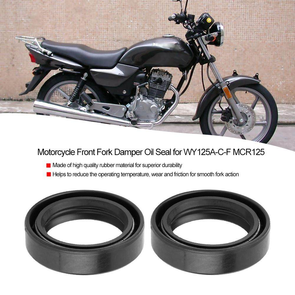 2pcs Motorcycle Front Fork Damper Oil Seal for WY125A-C-F MCR125
