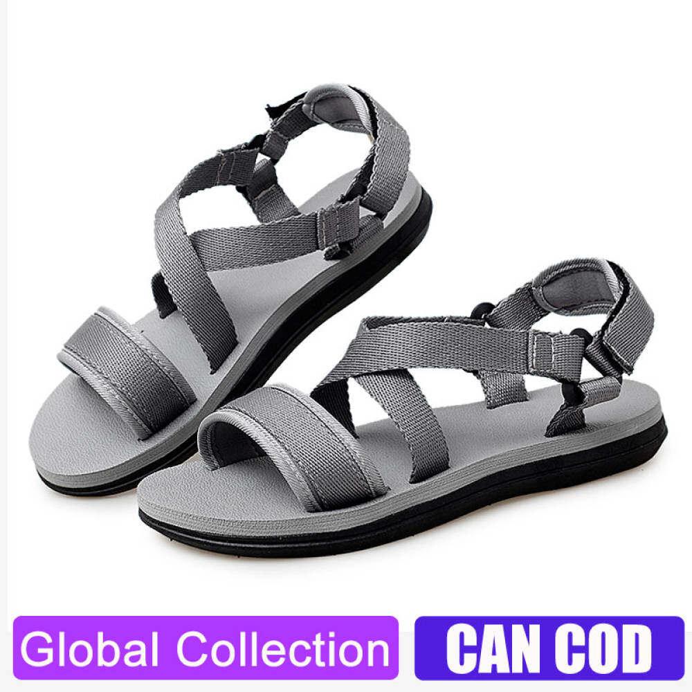 SHOESSSSS Nam Đơn Giản Xăng-đan Mùa Hè Sandal Mens Dép Thoáng Khí Ngoài Trời Comfort Trượt Trên Cỡ Lỡn Mở Giày Sandalias thumbnail