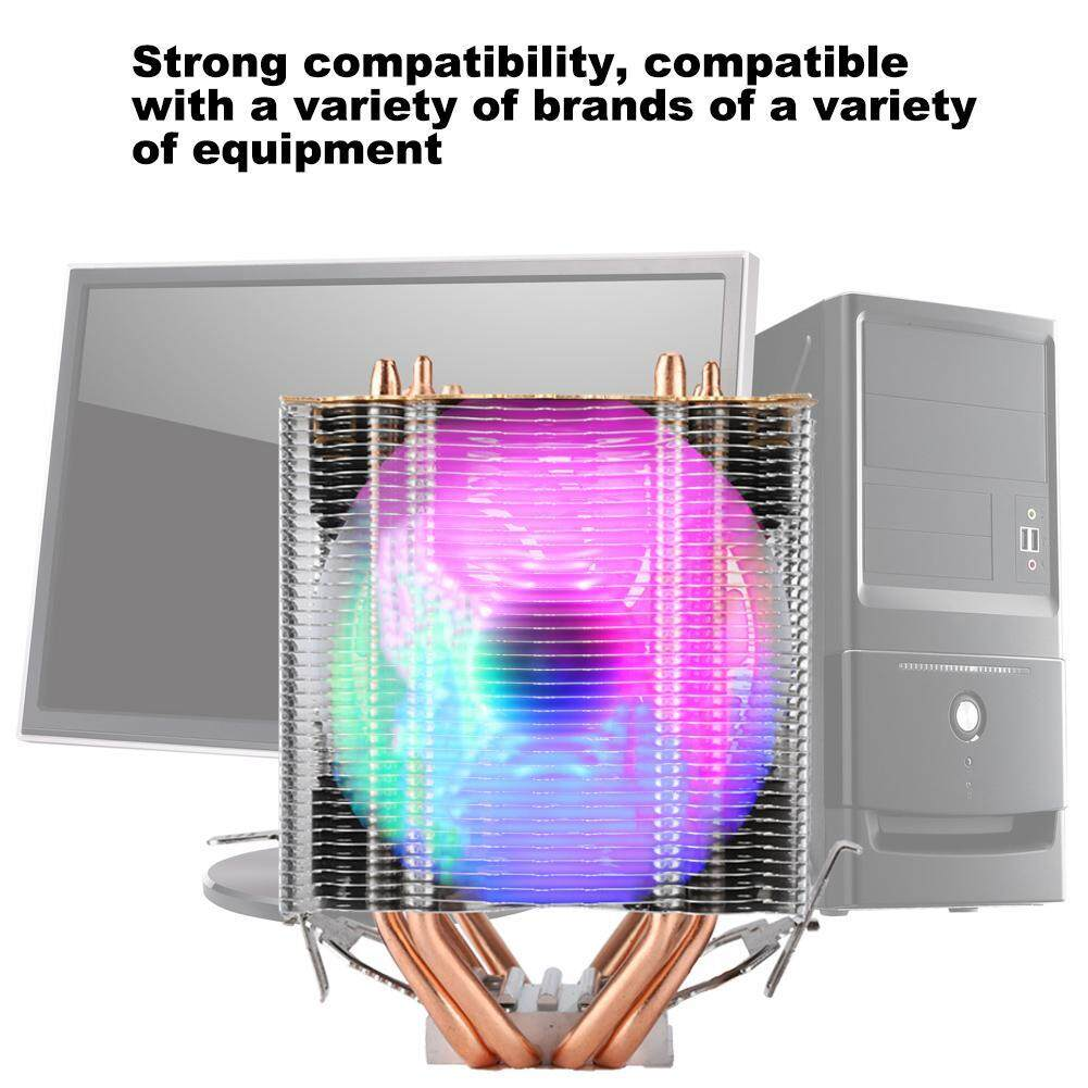 (Gold Certified Qianmei)High Quality Add Cover Ice Tower Type CPU Cooler Cooling Fan 9cm Copper Radiator