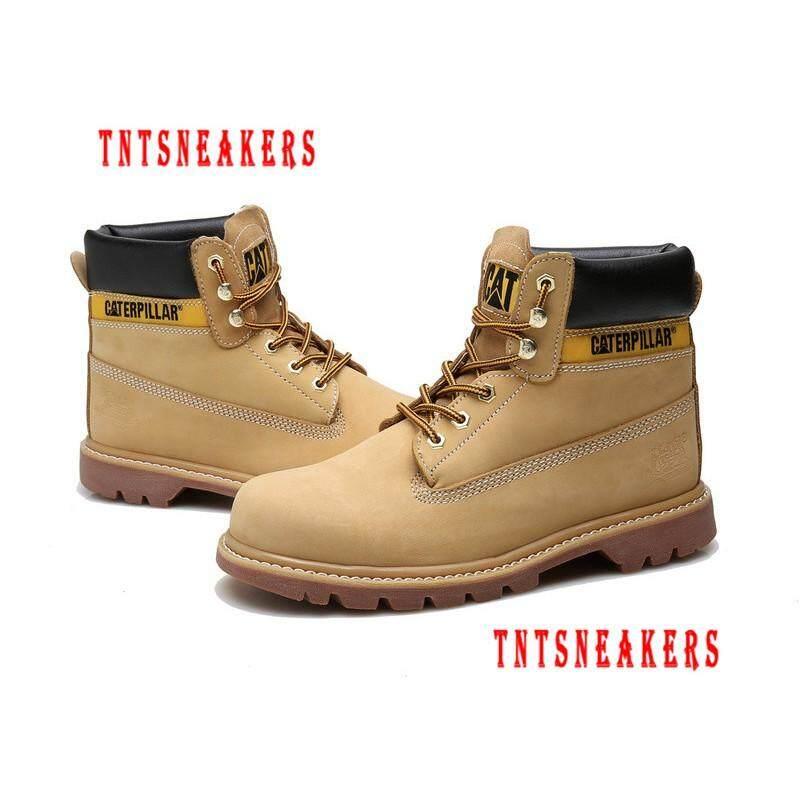 Original Caterpillar Women Work Genuine Leather Boot Shoes 12086