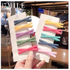 17 Dặm Hàn Quốc Màu Bánh Macaron Chéo Hairclip Hình Học Mờ Kẹp Tóc BB Cô Gái Ngọt Ngào Phụ Kiện Trang Sức