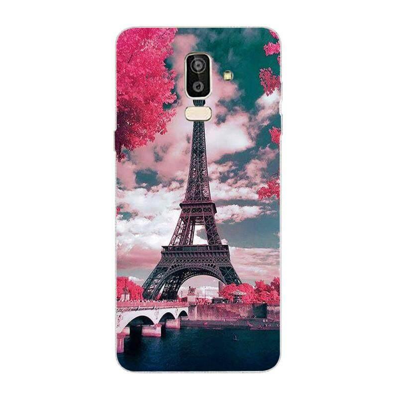 Casing Ponsel untuk Samsung Galaxy J8 2018 Casing Belakang Potongan Pas Badan TPU Lentur Halus Casing Ponsel Pencetakan Penutup Pelindung Pola 1