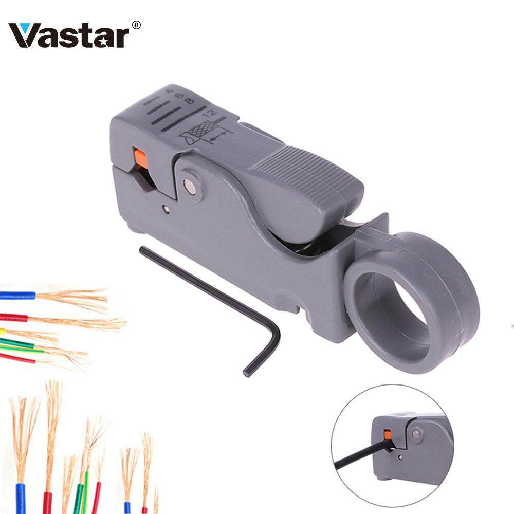 Vastar Household Tool Multifunction Rotary Coax Coaxial Cable Cutter Tool RG58 RG59 RG62 High Impact Material Wire Stripper