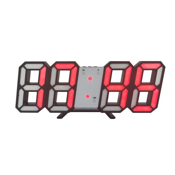 Zswbtr 3D LED USB Nhiệt Độ Kỹ Thuật Số Tường Báo Thức Giấc Ngủ Đồng Hồ Trang Chủ Trang Trí Phòng Khách Đồng Hồ Treo Tường bán chạy