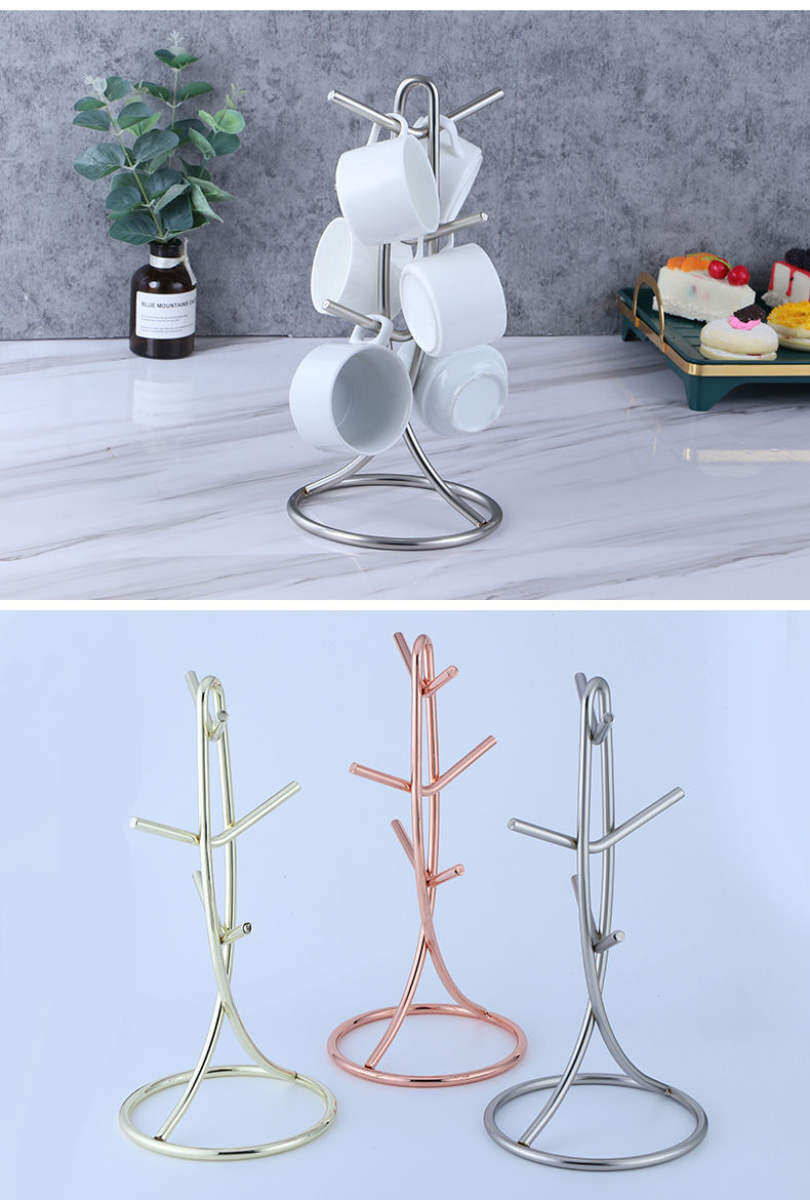 Vertical Y Shaped Hanging Cup Rack Simple Coffee Cup Rack Mug Milk Tea Cup Storage Rack Living Room Kitchen Shelf Lazada