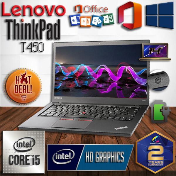 LENOVO THINKPAD T450 ULTRABOOK SUPERDUTY - INTEL CORE I5 HASWELL PROCESSOR / 16GB DDR3 RAM / 512GB SSD STORAGE / WINDOW 10 PRO / 2 YEAR WARRANTY / LAPTOP Malaysia