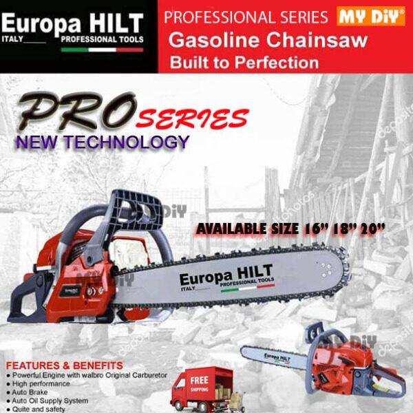 """MYDIYSDNBHD - Europa Hilt Professional Chainsaw 16 / 18 / 20"""" / Gasoline Chain Saw Professional Series"""