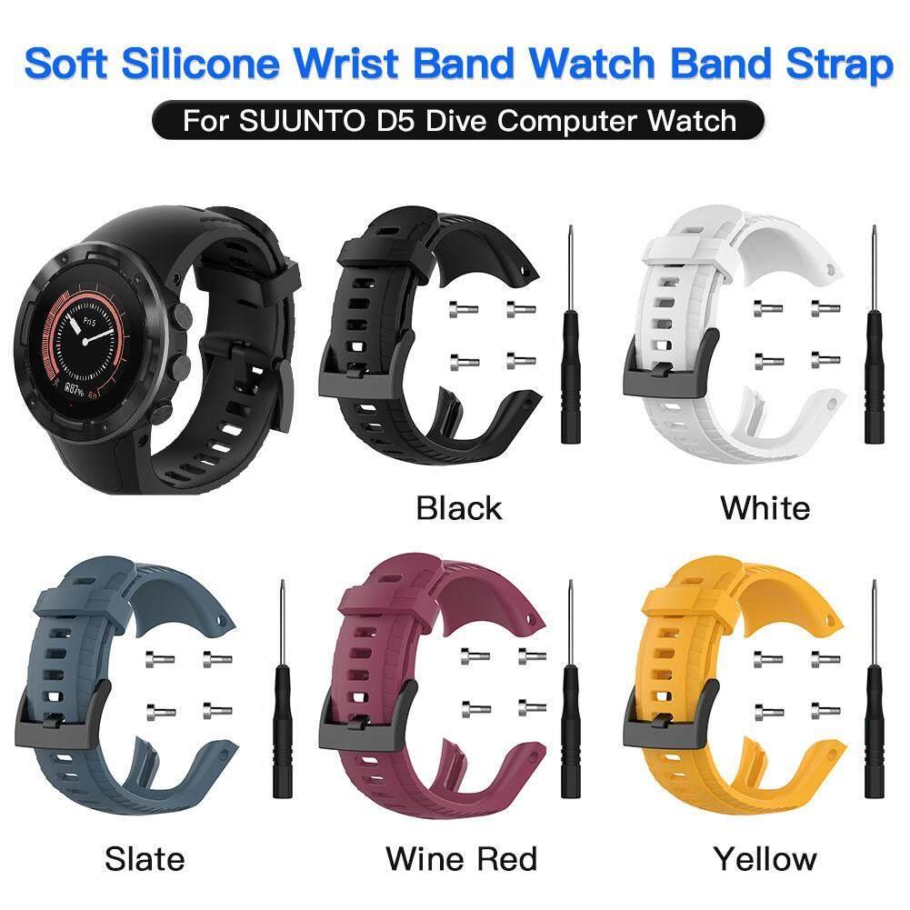 Giá Dây Đeo đồng hồ Silicone Mềm Cổ Tay Dây Đồng Hồ Watchbands Thay Thế Vòng Đeo Tay cho SUUNTO D5 Bổ Nhào Máy Tính Đồng Hồ