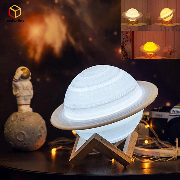 Bảng giá LoveBox 3D In Saturn Đèn Trang Trí Nội Thất Đèn Ngủ LED Phòng Ngủ Với Điều Khiển Từ Xa Cho Trẻ Em Quà Tặng