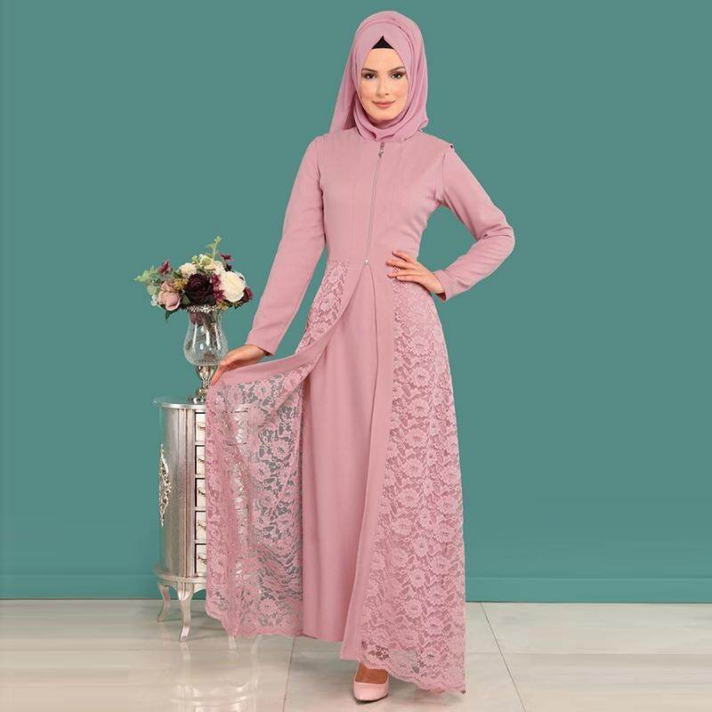 Women Maxi Dress Baju Raya Muslim Wear Jubah Muslimah Kurung 478f782a5f