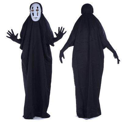Adult Stage Costume Cosplay Faceless Monster Costume Halloween Party Costume Anime Character Costume+Mask