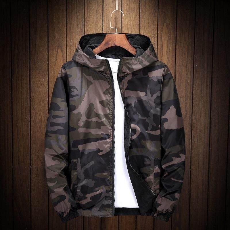 206836188 ENCONTRAR 8XL Bomber Men Jacket Brand Black Casual Hooded Pilot Both Side  Wear Windbreaker Coat Trend Hip Hop Streetwear