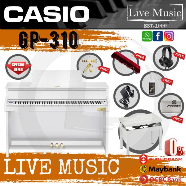 Casio GP-310 88 Key CELVIANO Grand Hybrid Digital Piano *Big Sale* with Piano Bench & Accessories  - White (GP310) Malaysia