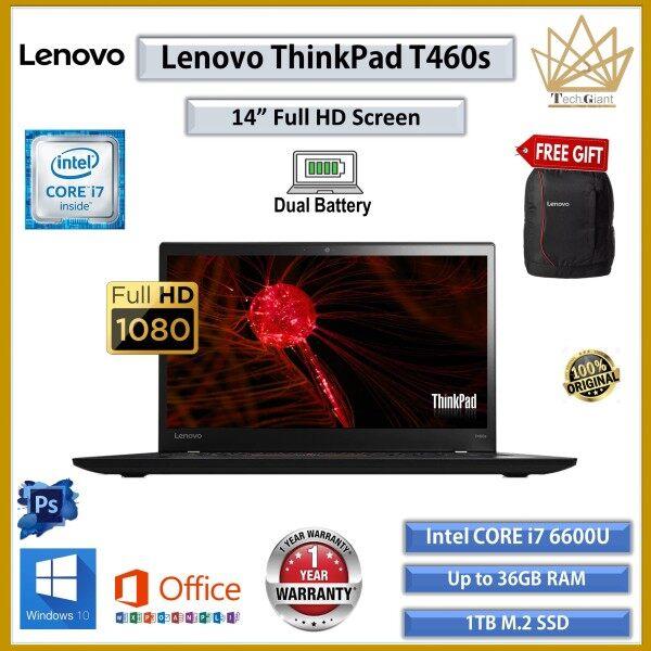 (ULTRA SLIM) LENOVO THINKPAD T460s CORE i7 (6TH GEN) 14 FHD / Up to 20GB DDR4 / 1TB M.2 SSD / WINDOWS 10 PRO /  14 FULL HD SCREEN / LENOVO THINKPAD T460 S / REFURBISHED / ULTRABOOK / BUSINES SERIES LAPTOP Malaysia