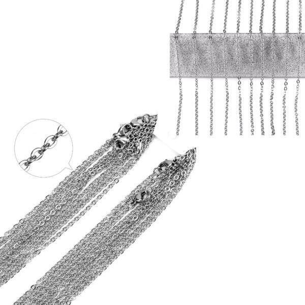 10 cái/bộ Phụ Kiện Trang Trí DIY Hình chữ O Phẳng Chéo Quà Tặng Bộ Trang Sức Thời Trang Unisex Thép không gỉ Áo Len Cổ