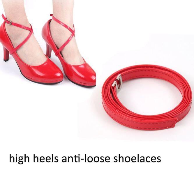 1 * Phụ Kiện Kẹp An Toàn Quyến Rũ Giày Cao Gót Chéo Mắt Cá Chân Giày Buộc Dây Giày Chống Dây Giày Dây Giày Giày Giày Dây Đai Giày giá rẻ