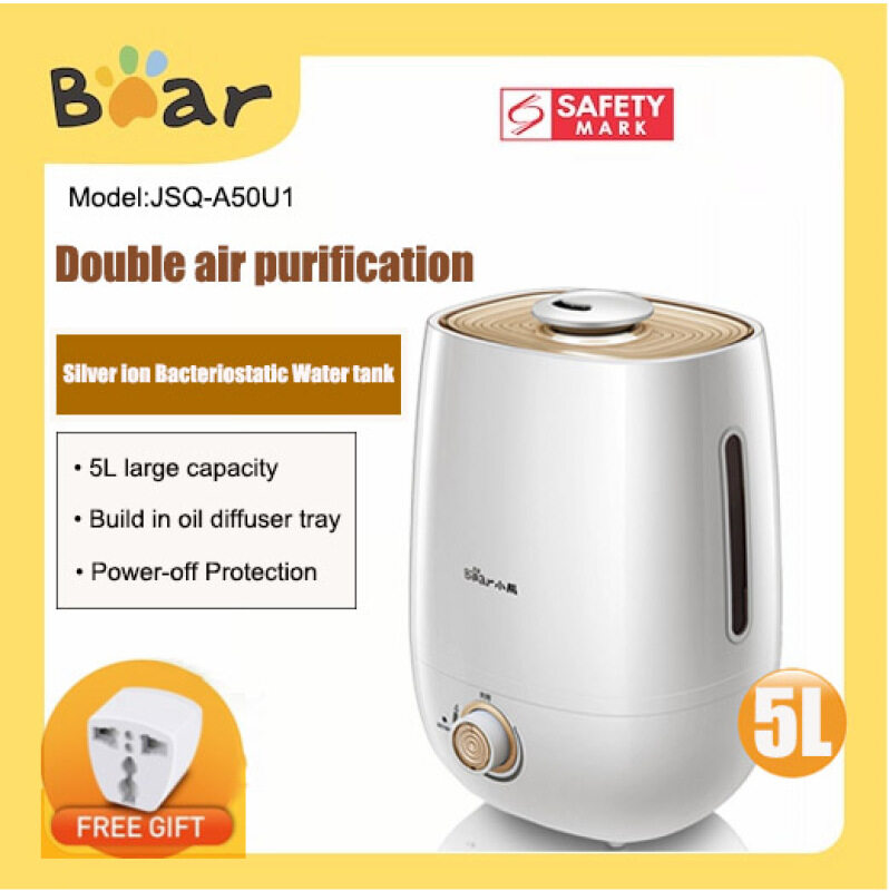 Bear Humidifier JSQA50U1 Silver ion Bacteriostatic Intelligent Constant Humidity/air purification Mini Aromatherapy Machine for home mute office desktop bedroom Singapore