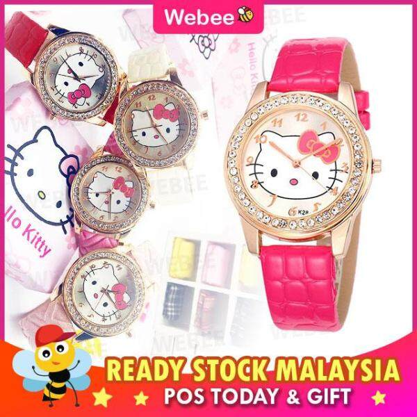 Webee Malaysia Child Cartoon Leather Belt Watches KT K28 Analog Round Band Quartz Malaysia