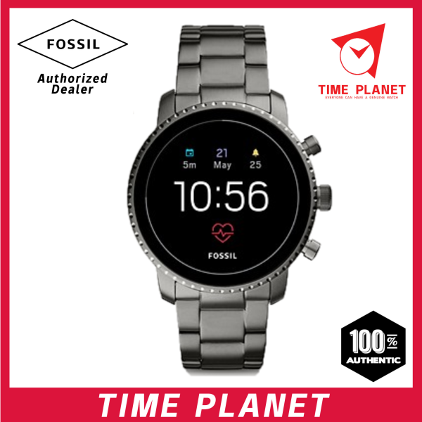 FOSSIL Gen 4 Smartwatch - Explorist HR Smoke Stainless Steel Malaysia
