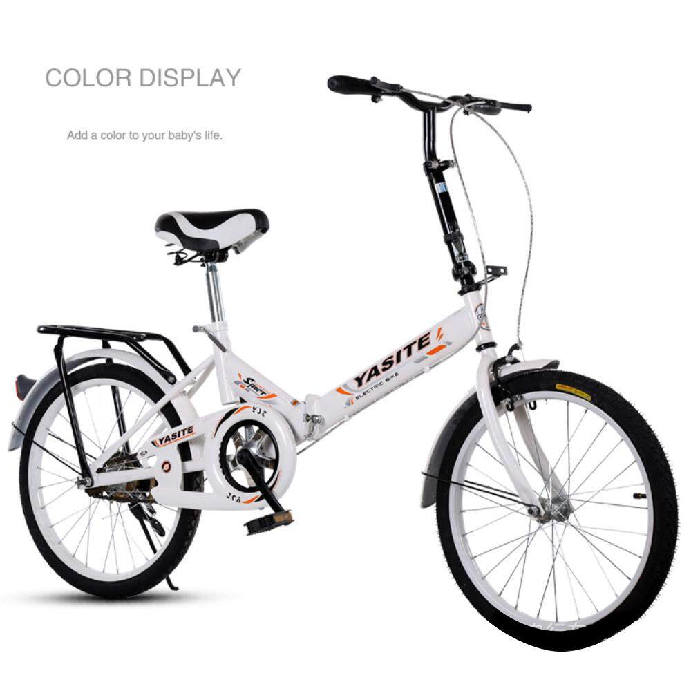 856e46a954e (2019 New Release) Kumronmo Lightweight 20 Inch Folding Bicycle Shock  Absorber Adult Student Bicycle