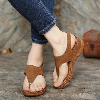 Dép xỏ ngón có dây đeo đến mắt cá chân, thiết kế đơn giản và thoải mái phù hợp cho nữ mang đi biển - INTL thumbnail