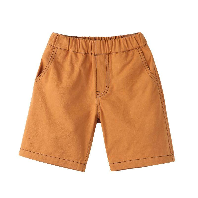 Summer Kids Boys Girls Solid Color Casual Short Pants Chino Sport Pants 3-6years