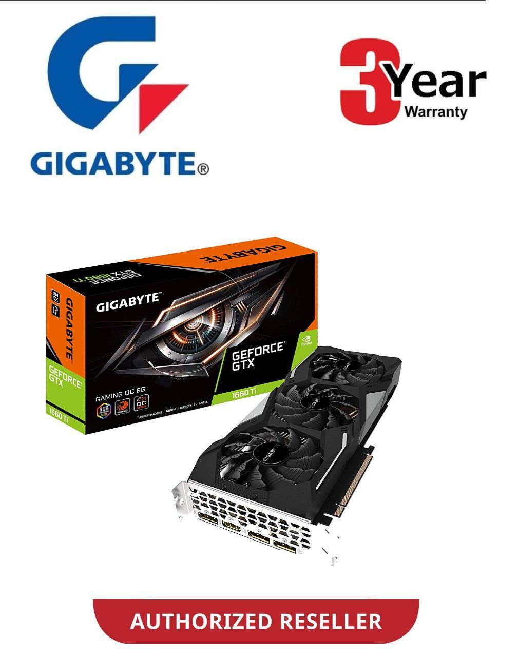 GIGABYTE GEFORCE GTX 1660 Ti GAMING OC 6G GRAPHIC CARD (GV-N166TGAMING OC-6GD)