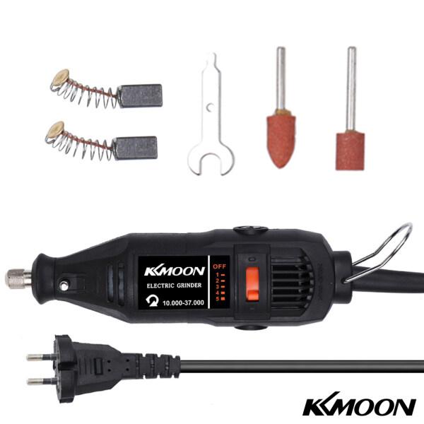 Bộ dụng cụ máy mài điện đa năng cầm tay Kkmoon kèm phụ kiện công suất 180W với 5 mức điều chỉnh tốc độ thiết kế nhỏ gọn sử dụng để cắt/khắc/phay/mài/đánh bóng/tháo/khoan - INTL