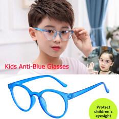 Trẻ Em Vòng Lửa Phẳng Kính Chống-Đèn Xanh Dương Trọng Lượng UV400 Mắt Kính Bảo Vệ Để Đọc Và Xem TV