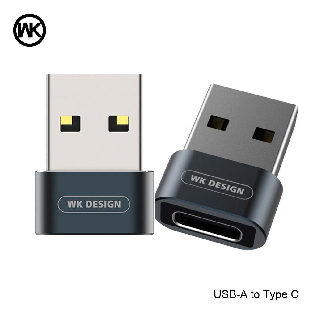 WK Desain Pria USB-A untuk Wanita Tipe-C Adaptor OTG USB untuk Usb C Pengisian Transfer Steker Konverter untuk Macbook samsung Huawei P20