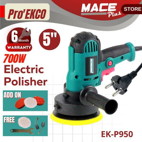 ProEkco 700W Electrical Polisher 5 Pad Buffer Polishing Machine Car Sander Floor Polisher Pembersih Kereta (K- P950)