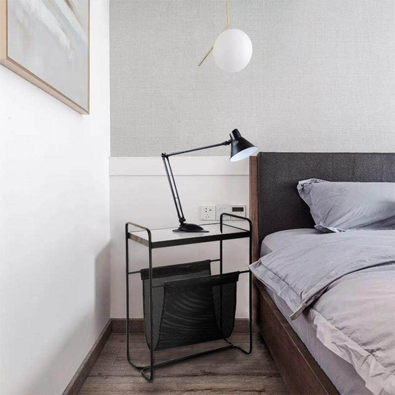 End Table Side Tables Black with Glass By Olive Al Home