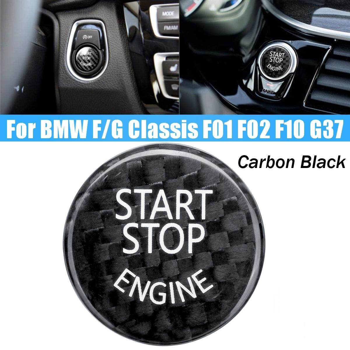 【free Shipping + Flash Deal】start Stop Engine Button Carbon Black Cover For Bmw F/g Classis F01 F02 F10 G37 By Audew.