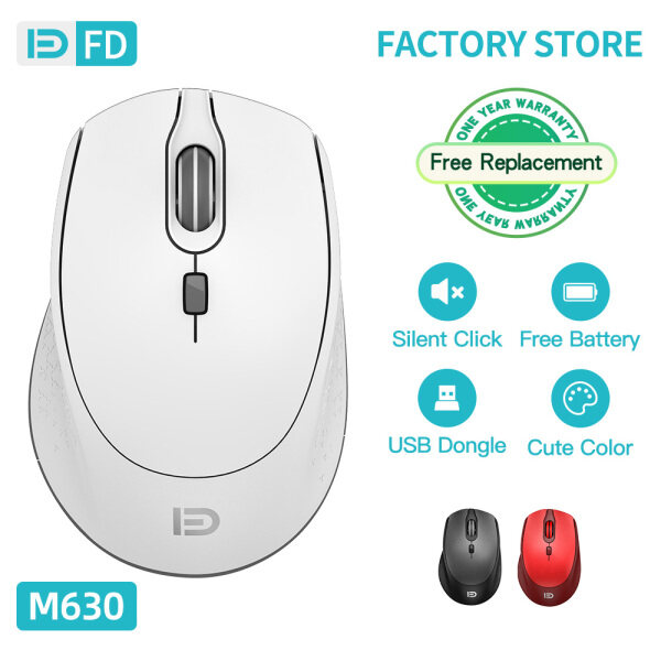 FD M630 Wireless Mouse Computer Mouse Silent Click Rechargeable Three Level DPI for Laptop PC Malaysia