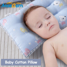 NiceBorn Kids Sleeping Pillows Sleep Positioner Head Protection Cushion Pillows Cotton Infant Baby Prevent Flat Head Pillow Toddler Pillow for 0-10 Years