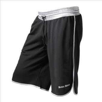 Luoke ใหม่ผู้ชายฟิตเนสกีฬาแห้งเร็ว Breathable บาสเกตบอลกางเกงออกำลังกายกางเกงวิ่งขาสั้นสีขาว-