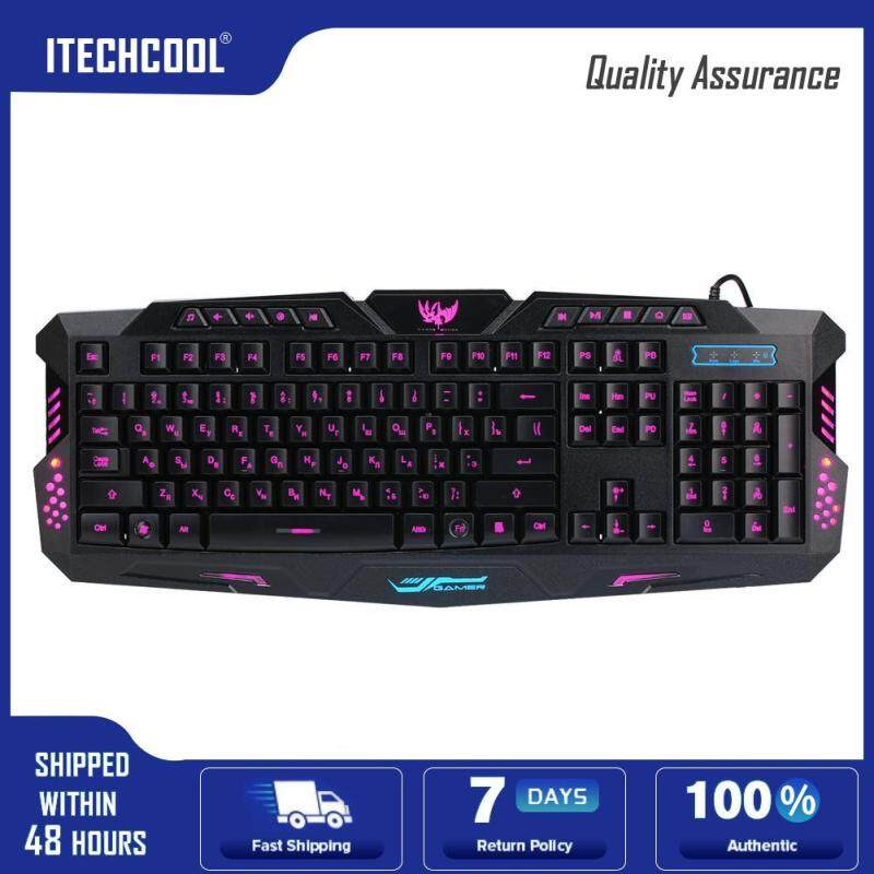 A877 3-Color Backlit Mechanical Feeling Wired Gaming Keyboard Singapore