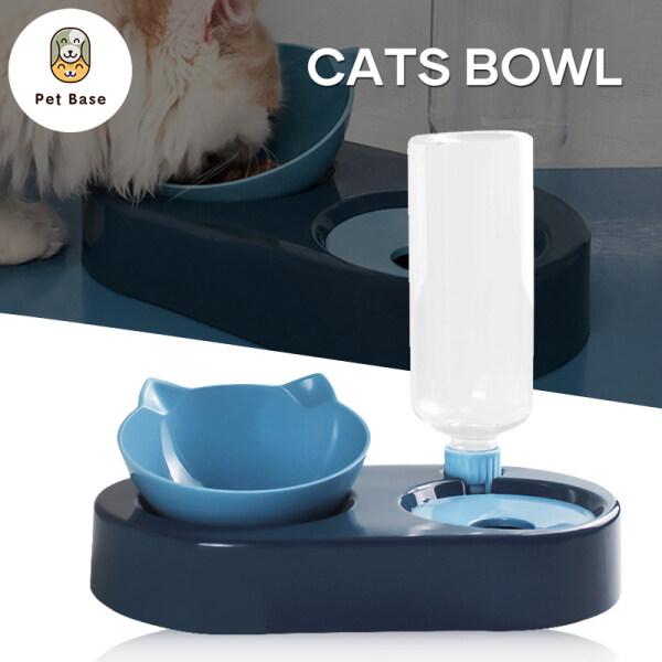 Dụng Cụ Cho Mèo Ăn 2 Trong 1, Máy Cấp Nước & Thức Ăn, Bình Nước Và Bát Đựng Thức Ăn Có Thể Tháo Rời 500ML Dành Cho Chó Cưng