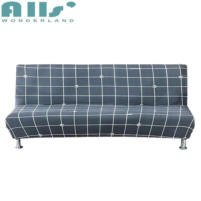 4 Seater Sofa Lipat Selimut Tebal Peregangan Tidak Ada Pegangan Tangan Sarung Sofa Elastis Sarung Sofa (Rentang Panjang untuk 190-230 Cm)
