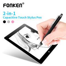 Bút Cảm Ứng FONKEN 2in1, Dành Cho Máy Tính Bảng Android Điện Thoại Thông Minh Bút, Chạm Vào Màn Hình Bút PC Vẽ Bút Chì
