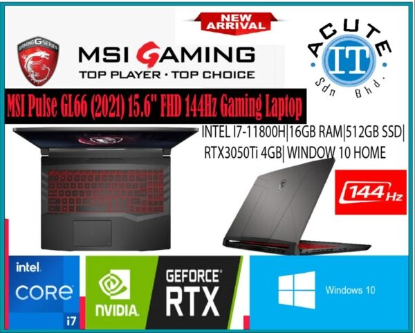 MSI Pulse GL66 11UDK-094 15.6 FHD 144Hz Gaming Laptop Malaysia