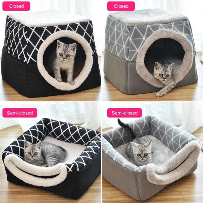 L/XL Pet Nest Giường Ngủ Mềm Mại Ấm Áp Không Trơn Trượt Nhà Mèo Có Thể Giặt Được
