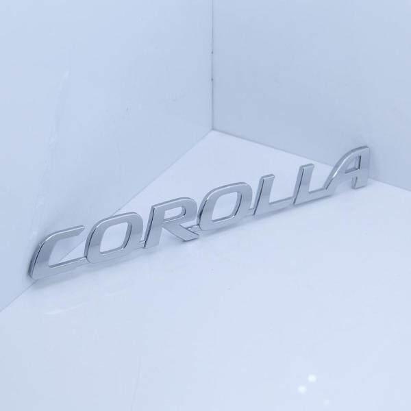 2 miếng dán biểu tượng chữ cái cho Corolla TOYOTA cốp sau logo xe Đuôi Sau huy hiệu Tiếng Anh nhãn 18x2.2cm Bạc