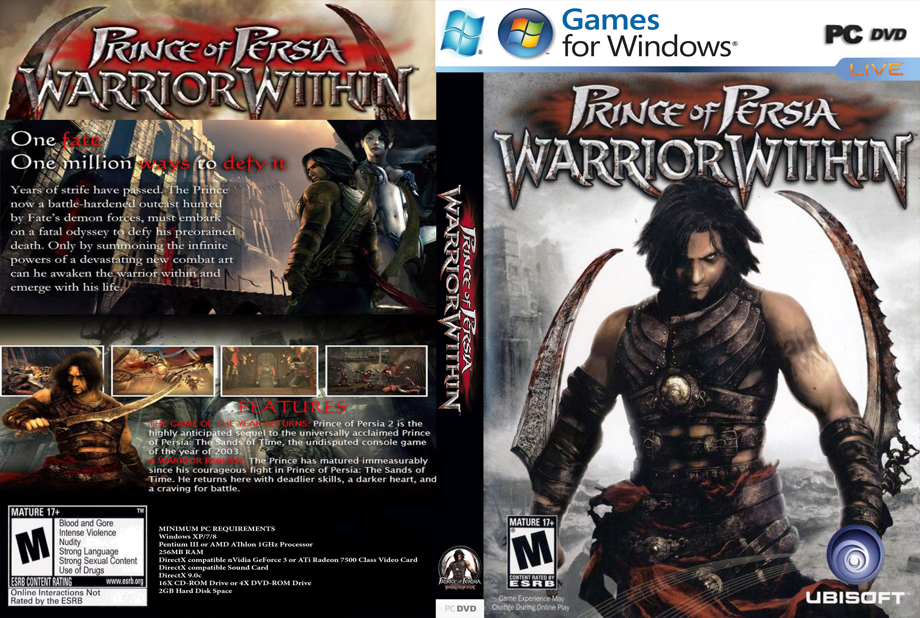 Prince Of Persia Warrior Within Pc Game Offline Dvd Installation Lazada