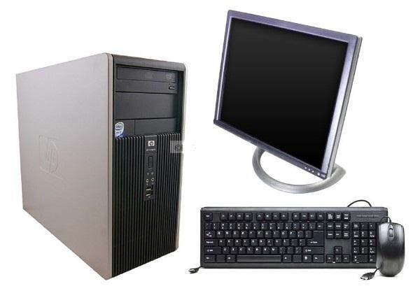 Full Set Pc Hp Dc5800 Micro Tower Core 2 Duo/Ram2gb/Lcd 17