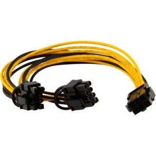 PCI-E 6 Chân Thành 2X6 + 2 Chân (6 Chân 8 Chân) Điện Splitter Cáp PCIE PCI Express thumbnail