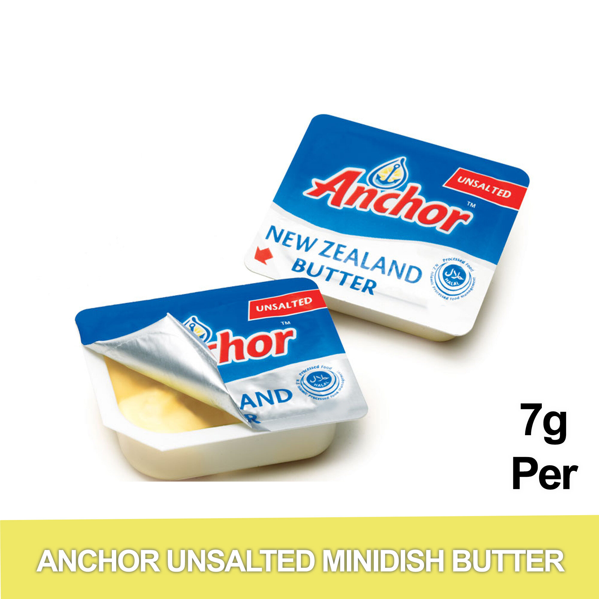Anchor Unsalted Minidish Butter 7g 400 Units Imported Halal Certified New Zealand S Trusted Brand Made From 100 Pure New Zealand Milk Lazada